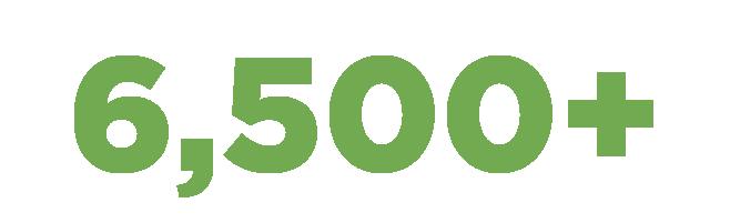 6,500+